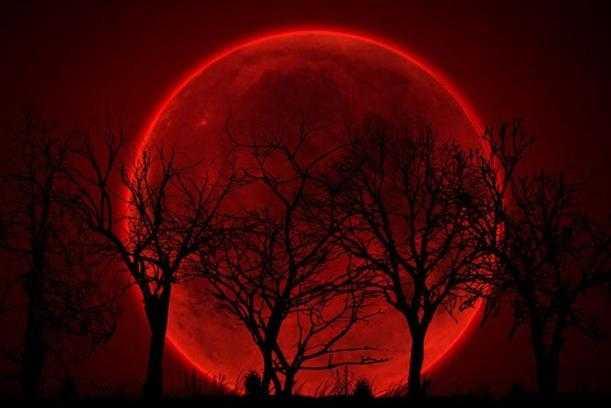 """""""Luna de sangre"""" rodeado de supersticiones y profecías apocalípticas"""