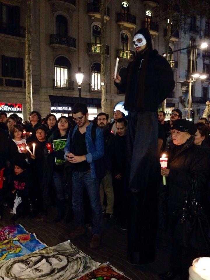 Barcelona, mexicanos en Marcha por la Dignidad
