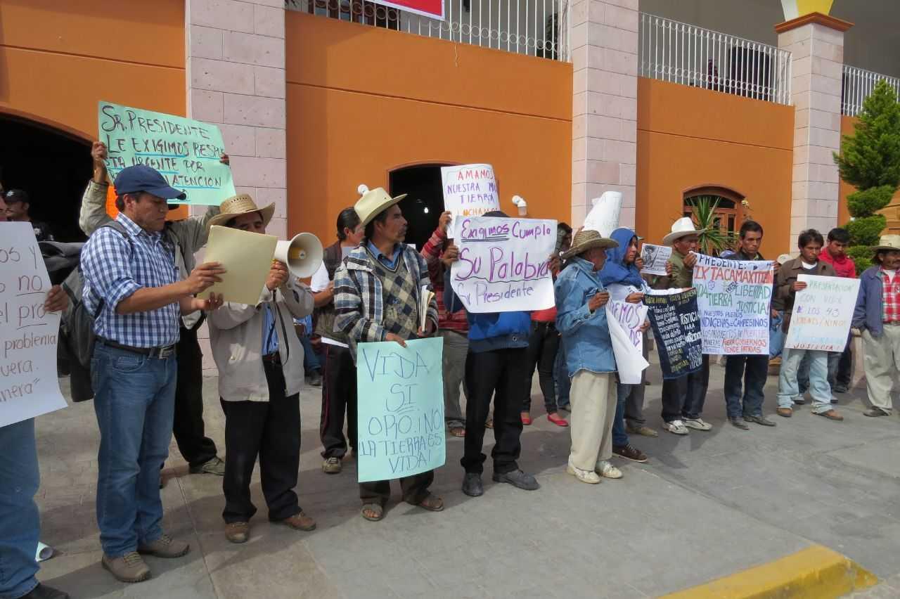 Empresa canadiense despoja y amenaza a pobladores de Ixtacamaxtitlán