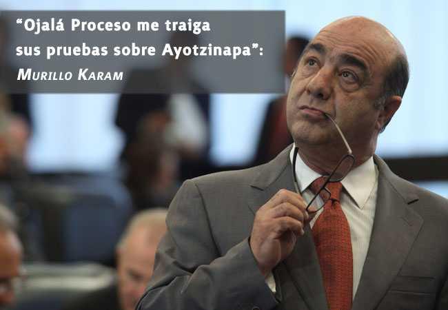 """""""Ojalá Proceso me traiga las pruebas sobre Ayotzinapa"""": Murillo Karam"""