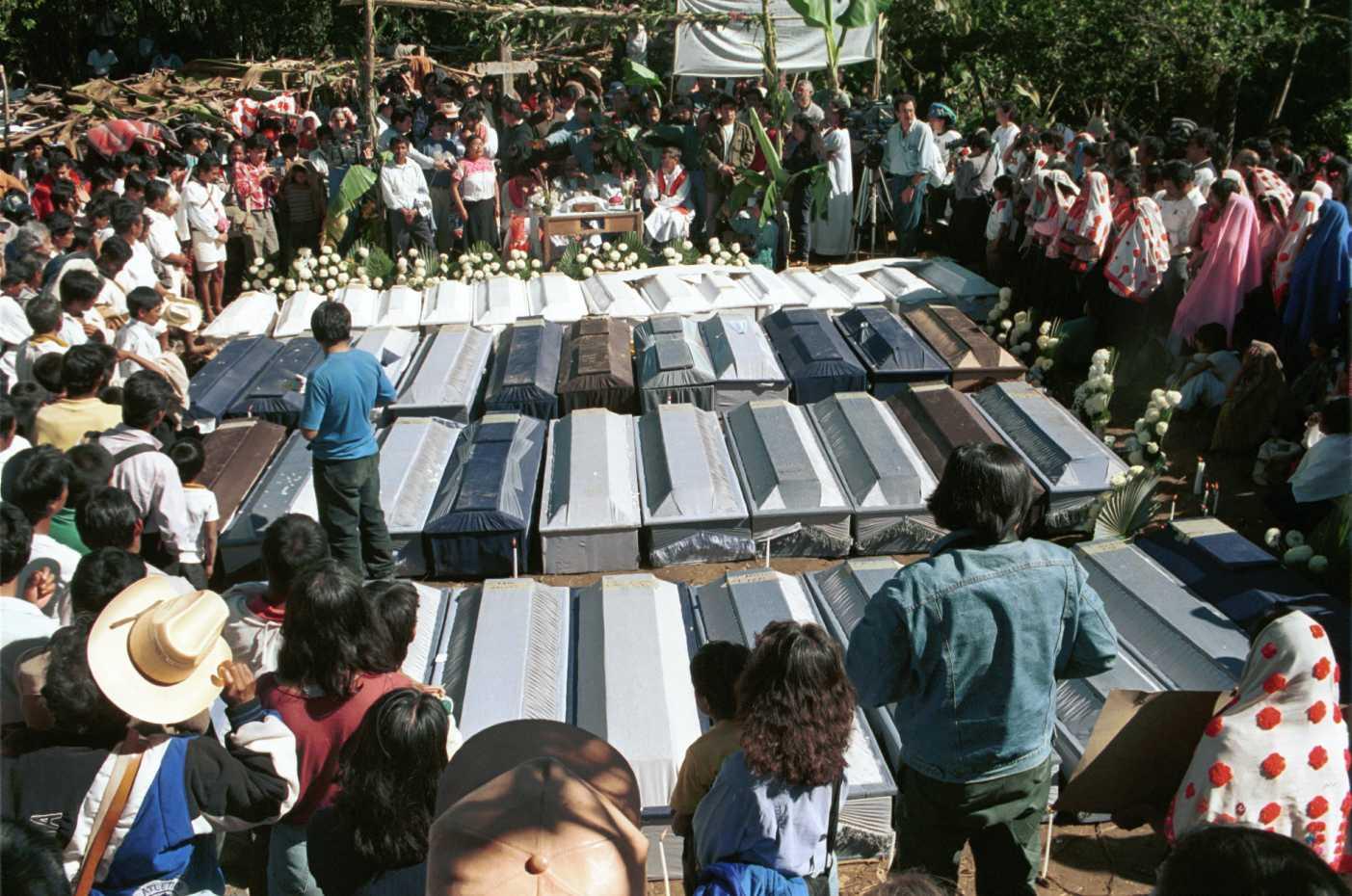 Conmemoración a 17 años de la masacre en Acteal