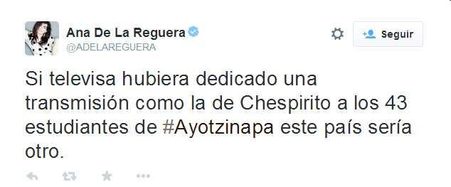 Famosos critican a Televisa por no dar importancia a Ayotzinapa
