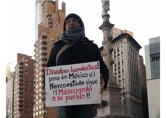 Mexicanos protestan en Nueva York