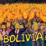 Manifestación contra cambio de horario de Los Simpsons en Bolivia