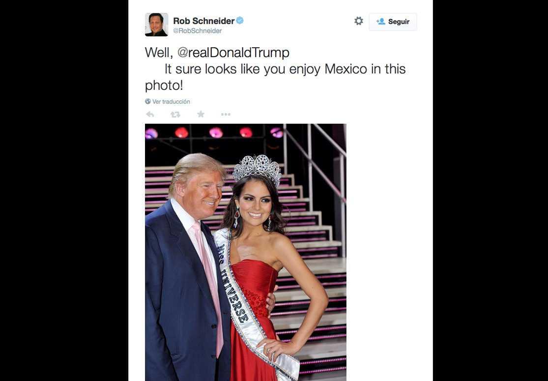 Rob Schneider cuestiona a Donald Trump