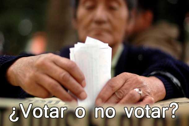 ¿Votar o no votar?