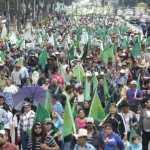 Campesinos protestan en Los Pinos contra privatización del agua