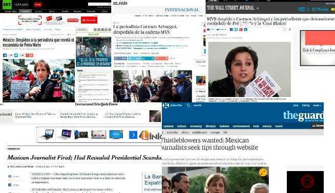 WSJ, RT, AFP, AP y otros medios internacionales difunden despido de Aristegui