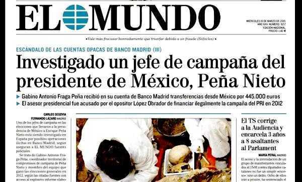 España: Escándalo bancario toca a Peña Nieto