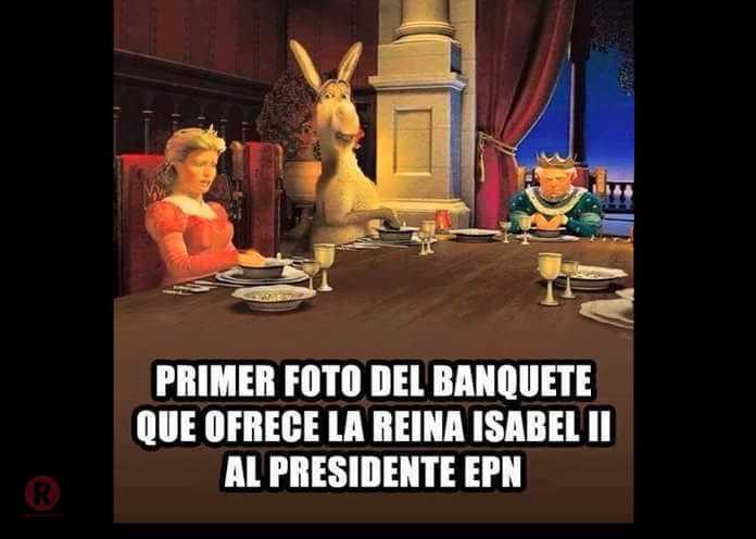 Peña Nieto con reina Isabel II en memes