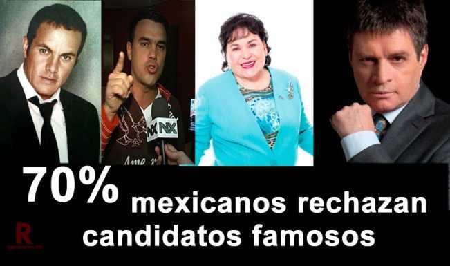 70% de mexicanos rechazan a figuras del espectáculo como candidatos