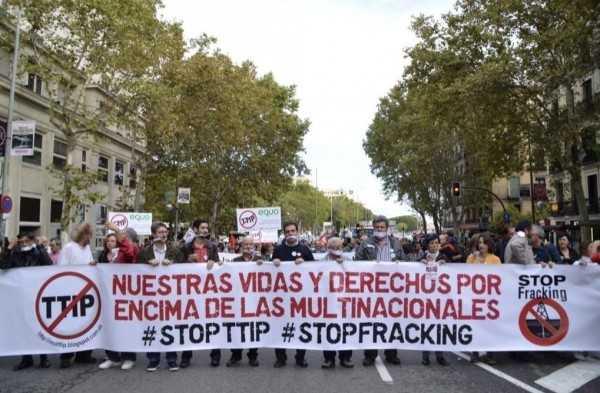 Movilización mundial contra Tratado Transatlántico Norte (video)
