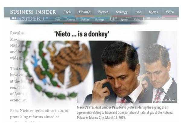 """Peña Nieto """"es un burro"""": Business Insider; censuran título"""