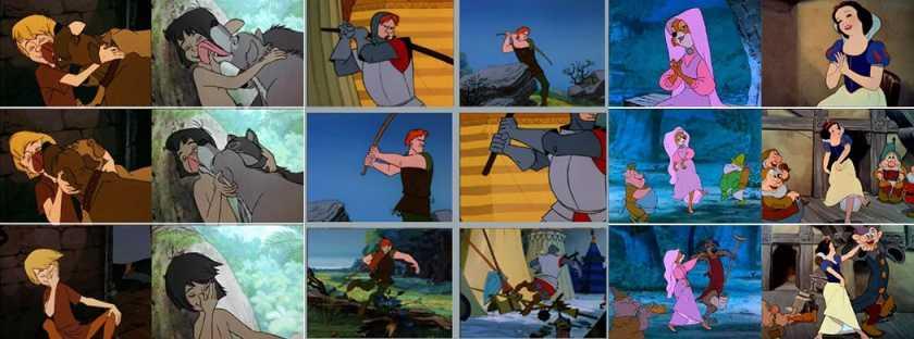 Disney recicla escenas en diversas películas (video)