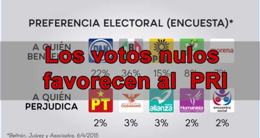Anular tu voto favorece al PRI y a los partidos (video)