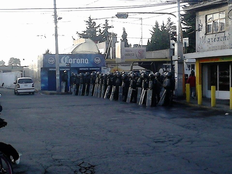 Inconstitucional uso de la fuerza pública como primera opción en el Edomex