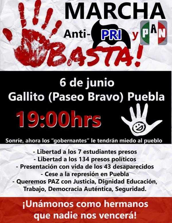 Protesta en la BUAP, por detención de 7 estudiantes