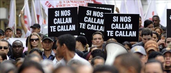 España, entrarán en vigor 'trío de mordazas'