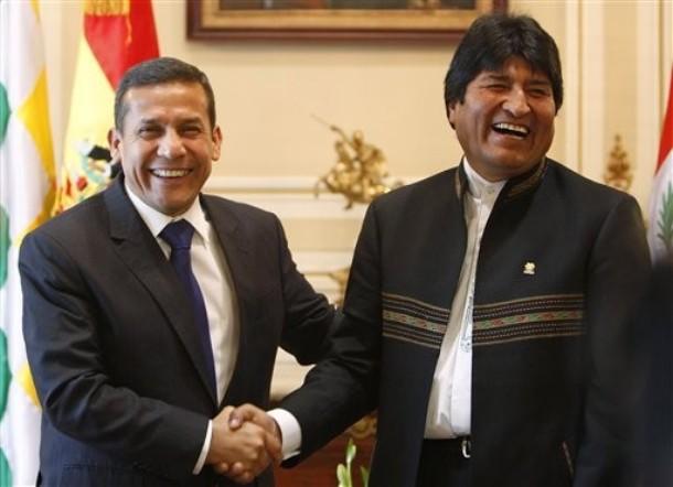Ollanta Humala, Evo Morales
