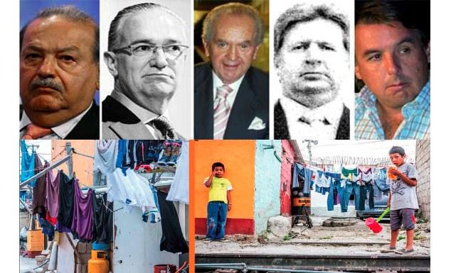 Desigualdad extrema: Quintuplican fortuna magnates mexicanos, revela informe de Oxfam