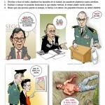 Abatir v.tr. (Cartón de Helguera y Hernández)