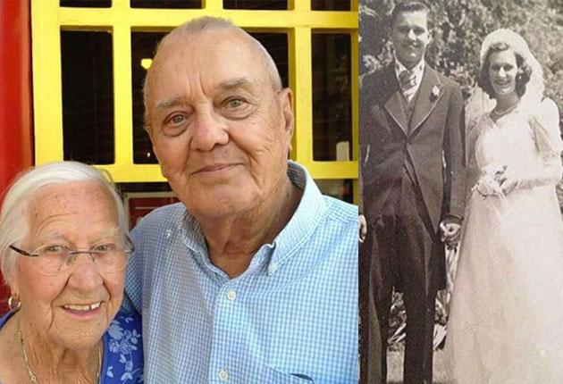 Como final de película: Pareja muere unida luego de 75 años de casados