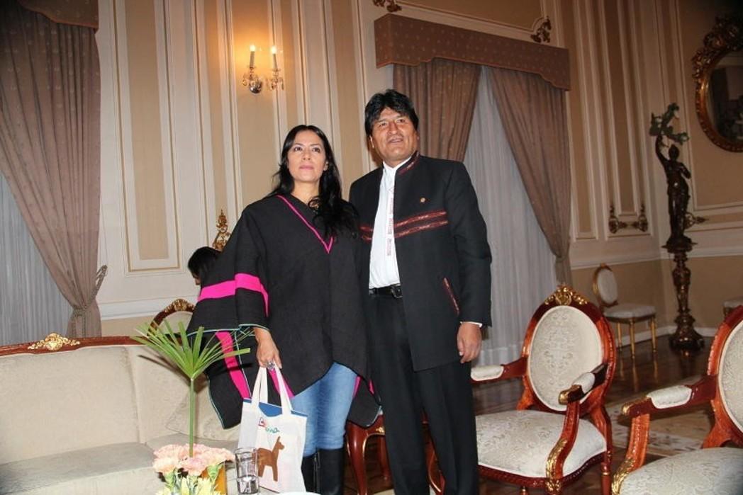 Lila Downs se reúne con Evo Morales