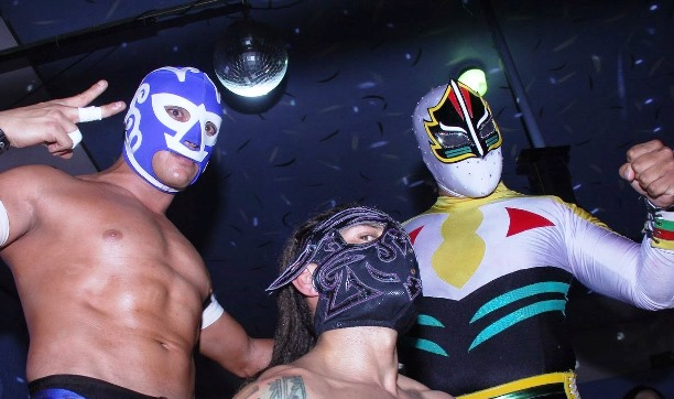 Máscara Sagrada Jr., Hijo de Fishman y Huracán Ramírez Jr