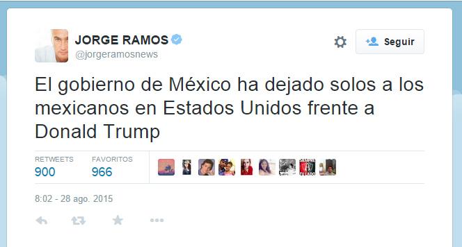 Gobierno de México ha dejado solos a los mexicanos en Estados Unidos: Jorge Ramos