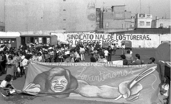 1 de mayo de 1986, el Sindicato de costureras 19 de septiembre,