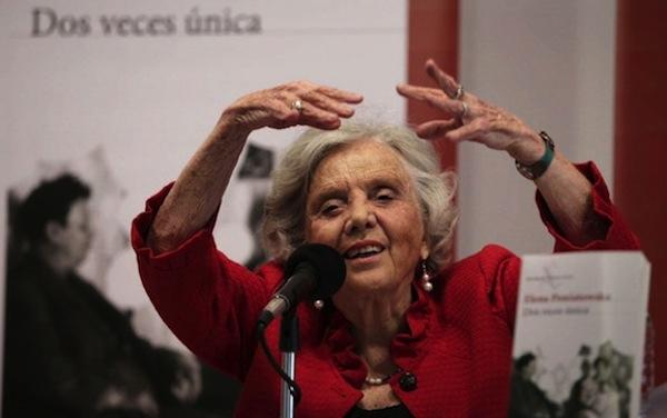 """Situación de México """"aterrador"""", Poniatowska en presentación de novela """"Dos veces única"""""""