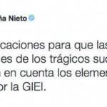 """Peña Nieto """"reacciona"""" tras caerse su versión histórica de Ayotzinapa"""