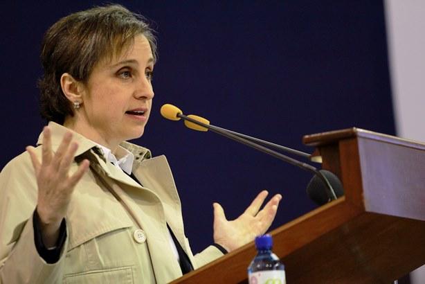 'Si roban y matan en México jamás será una verdadera democracia': Aristegui