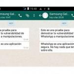 Mensajes de WhatsApp se pueden manipular