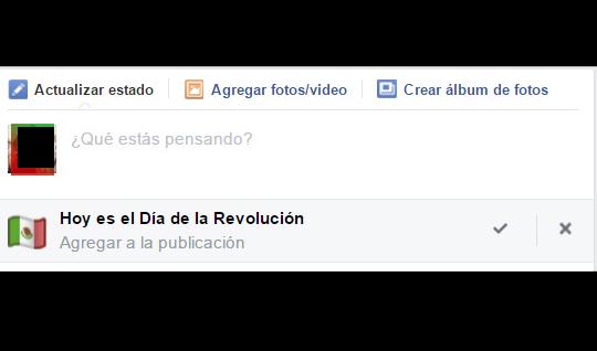 Según Facebook, hoy es el día de la Revolución Mexicana