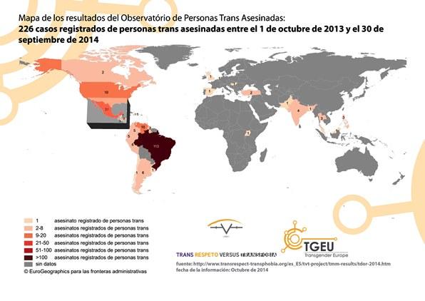 mapa de asesinatos trans