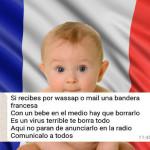 Falso el nuevo virus en WhatsApp con la bandera de Francia