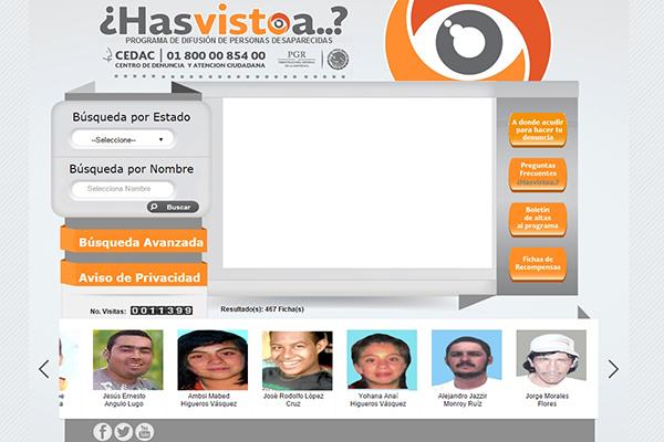 PGR lanza portal para apoyar la búsqueda de personas desaparecidas has visto a