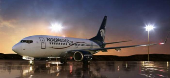 Se desprende cubierta de turbina a avión de Aeroméxico en pleno vuelo