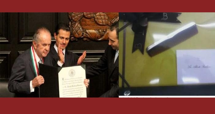 Alberto Baillères regala peine de bolsillo a senadores por Medalla Belisario Domínguez
