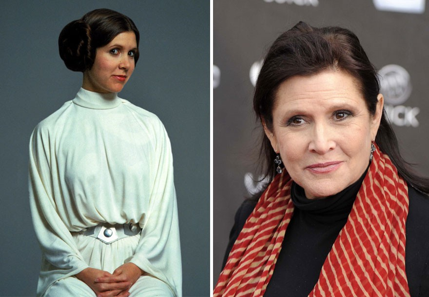 star wars force awakens Leia Carrie Fisher