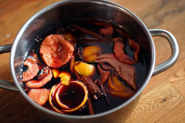 vin chaud Vino caliente, preparación
