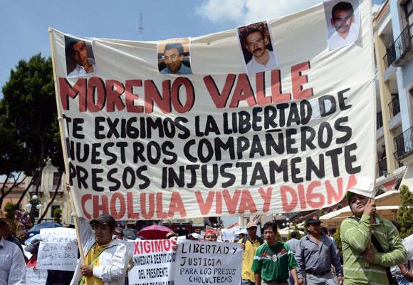 Encarceló Moreno Valle a 366 por ser contrincantes políticos