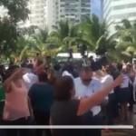 Defensores de Tajamar corren a representantes del Partido Verde (video)