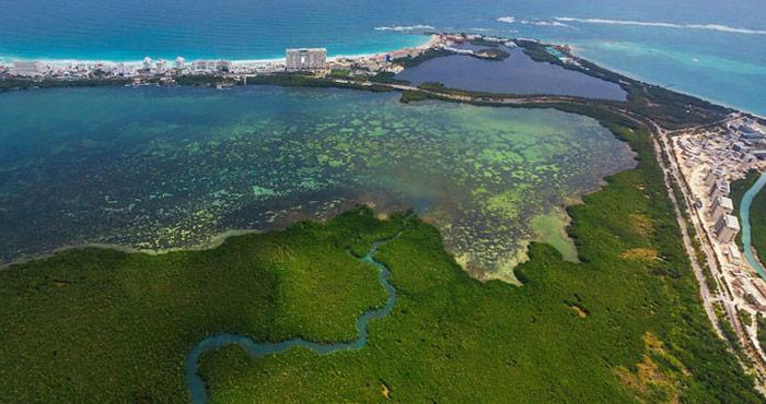 Otro Tajamar en Punta Nizuc, Quintana Roo