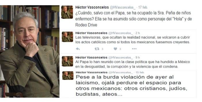 """Peña acabó de pisotear """"lo que queda del Estado Laico: Héctor Vasconcelos"""