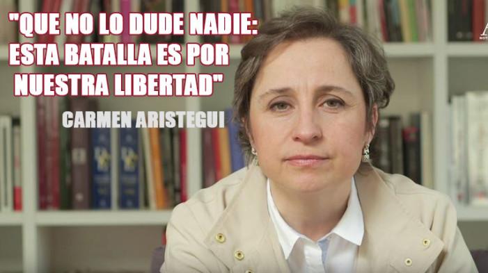"""Carmen Aristegui anuncia """"la más grande investigación"""""""