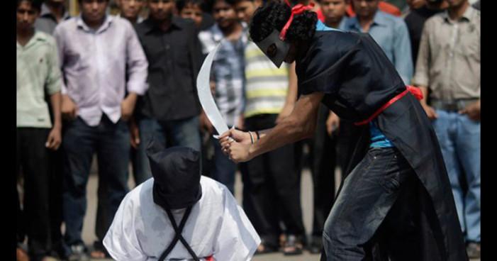 Arabia Saudita decapitará a 14 participantes en protestas contra el gobierno
