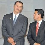 Fox respalda a Peña, se lanza contra Calderón