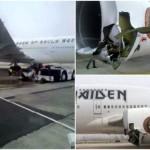 Avión de Iron Maiden sufre accidente, hay un herido